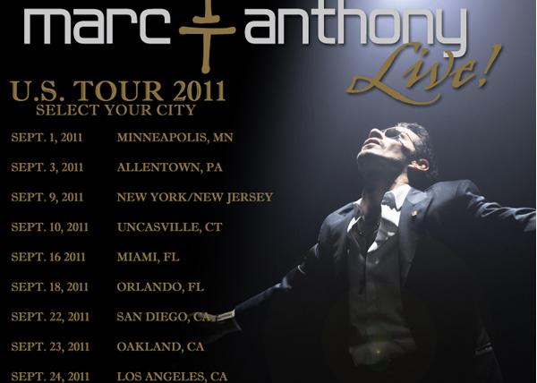 Marc Anthony U.S. Tour 2011