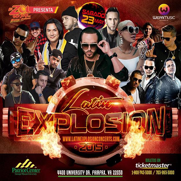 Latin Explosion Concert Lineup