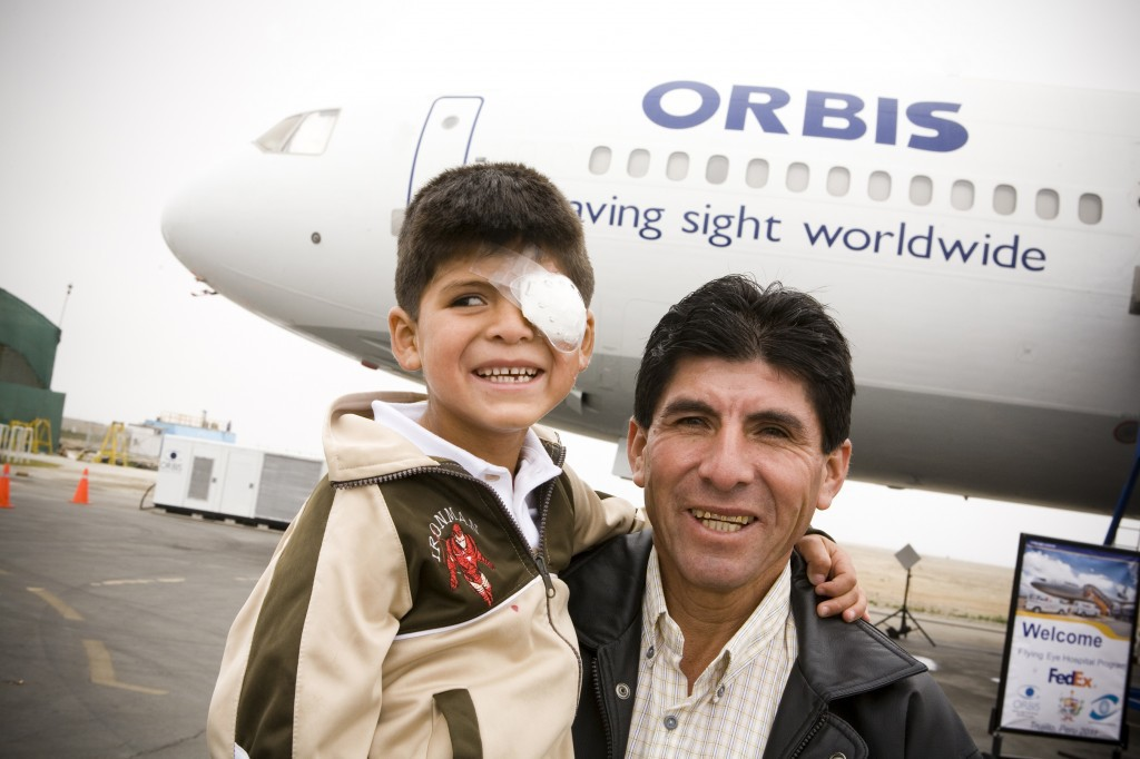 Orbit Flying Eye Hospital Treats Luis Miguel Sanchez, age 6 in Trujillo, Peru
